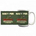 NAVY PBR BROWN WATER NAVY MUG